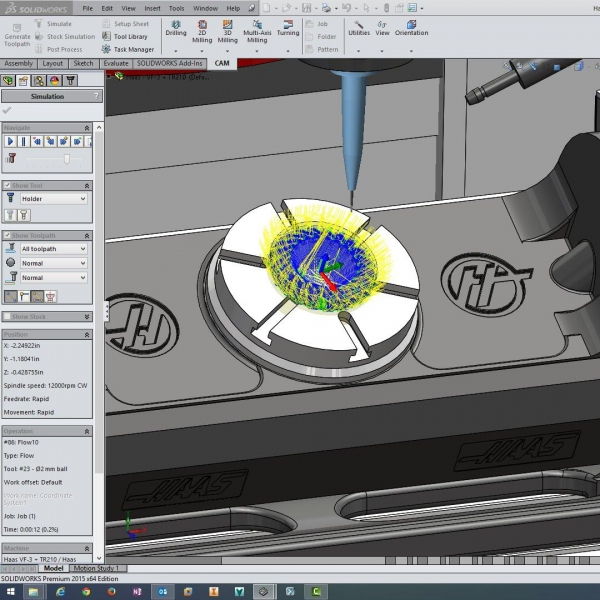 Applying 5-axis cutterpaths to b
