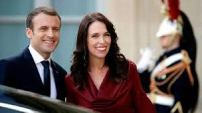 French President Macron Green with Envy at Jacinda Ardern's Eco Bonding Fait Accompli