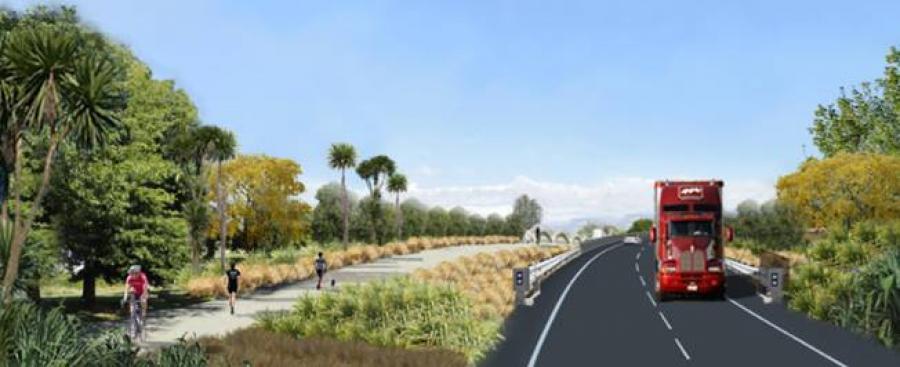 Construction starts on new bridge over Blenheim's Ōpaoa River