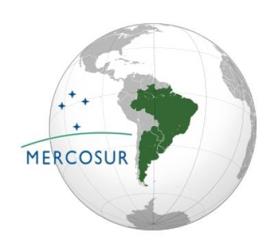 Mercosur trade bloc consisting of Argentina, Brazil, Paraquay and Uruguay