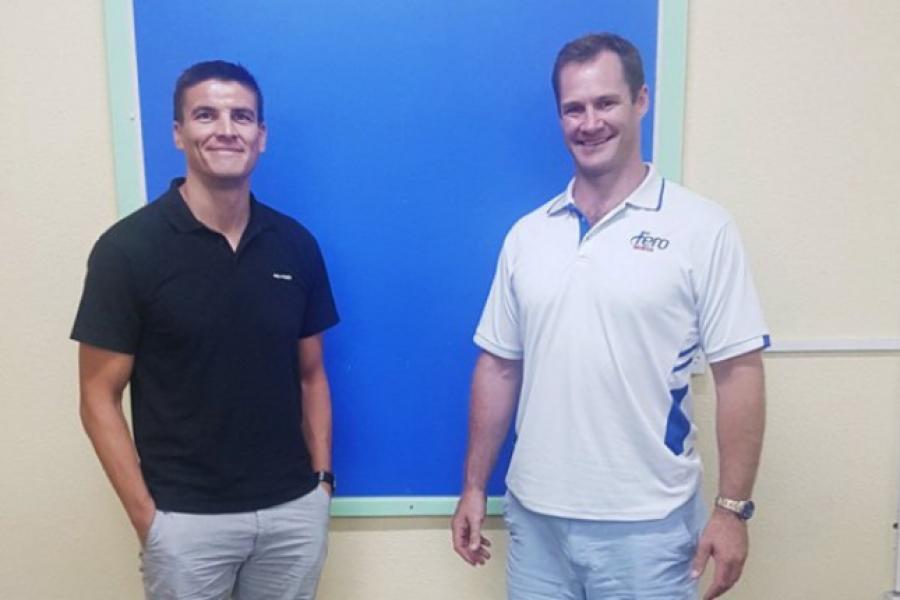 GM for Pro-Form, Philip Butler visits Fero Samoa facilities with GM Sam Fulton.