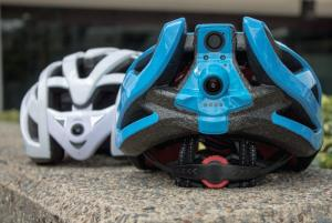 Dual-camera helmet gives cyclists eyes in the back of their heads