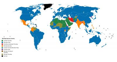 The working weeks by country