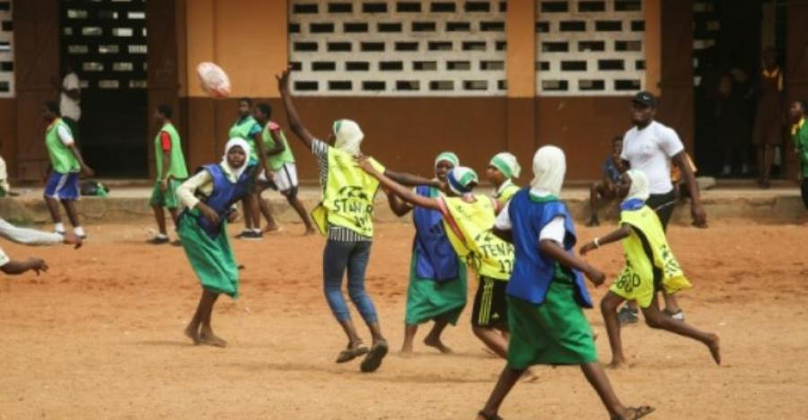 Ghana is focusing on its youngsters in a programme aimed at encouraging more people to play rugby. By RUTH MCDOWALL (AFP)
