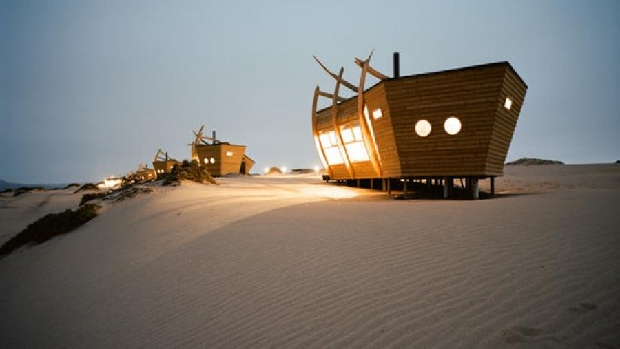 Shipwreck Lodge offers spooky stays in the boat graveyard of Namibia's Skeleton Coast