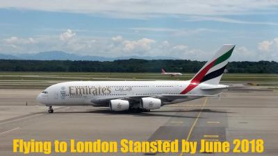 Emirates celebrates inaugural flight to London Stansted