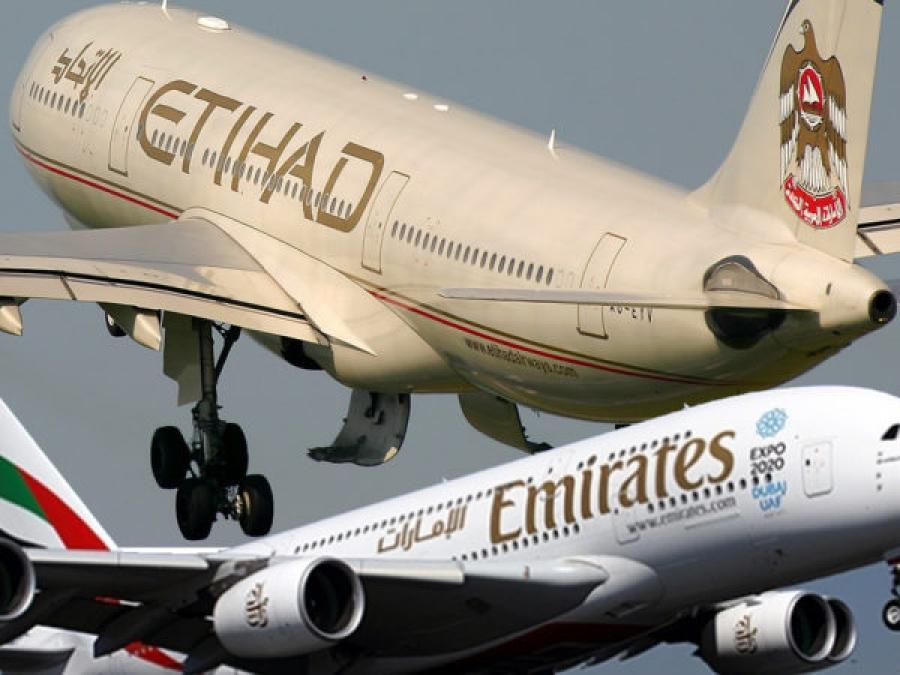 Emirates are rumoured to be considering taking over Etihad, which would form the world's biggest airline by passenger traffic.