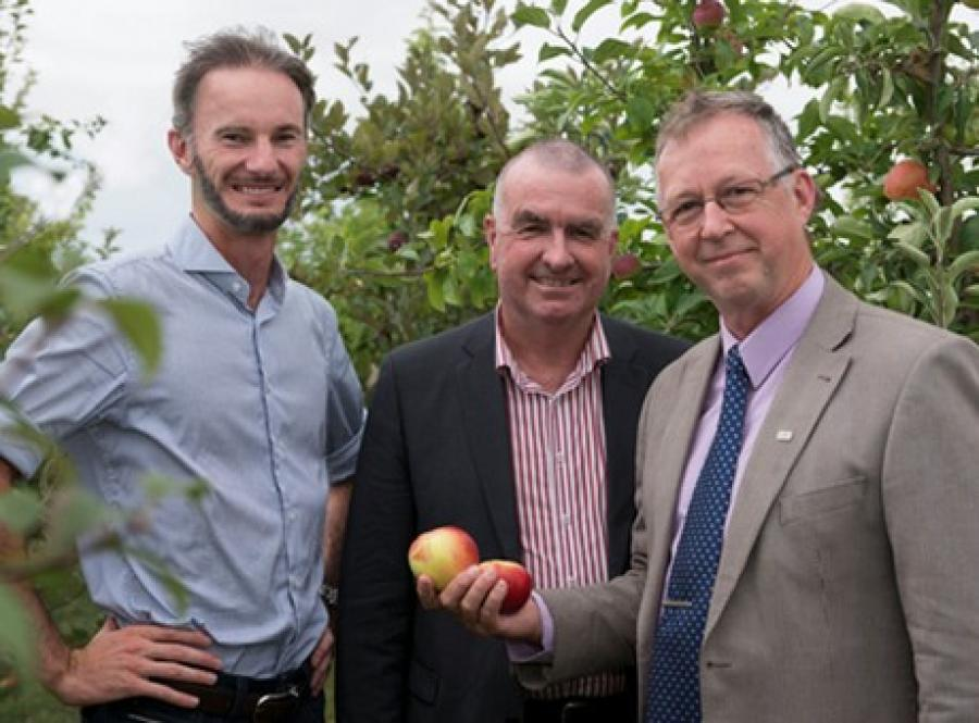 Members of the New Zealand team who have been working together on the Himachal Pradesh Horticultural Development Project, (from left) G2G Know-How managing director Malcolm Millar, New Zealand Apples & Pears chief executive Alan Pollard and Plant & Food Research Business Development Manager (Commercial Group) Greg Pringle.