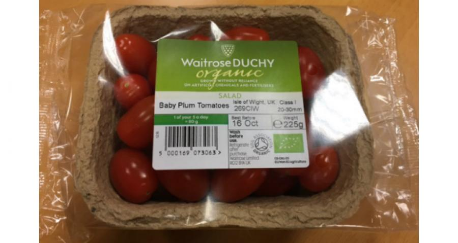 Waitrose creates punnets using dried tomato leaves