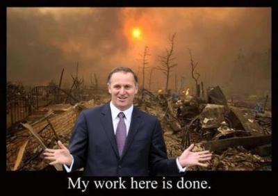 John Key's K, the mysterious affair of the Flag Referendum and other examples of National's Power Fatigue