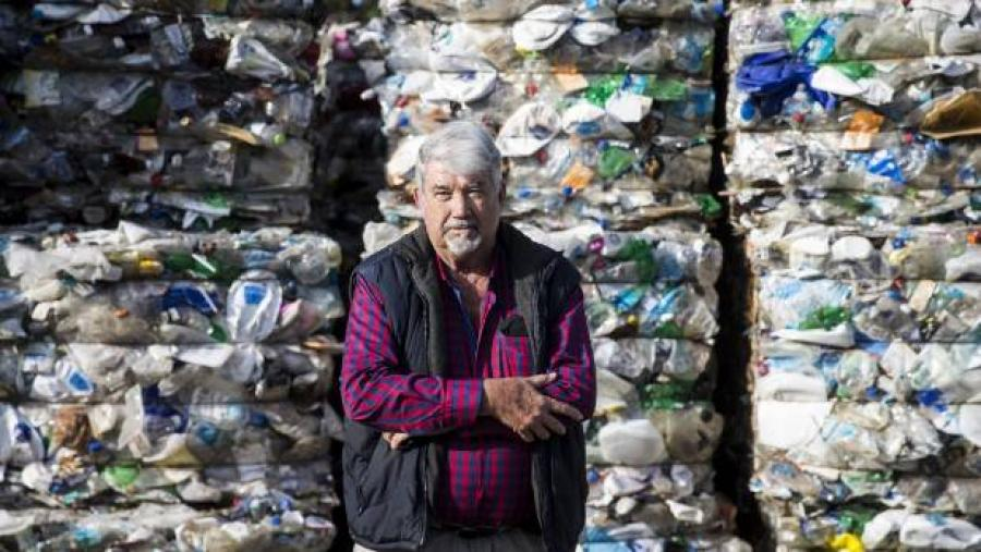 Duncan Gillies is shocked by the ever growing mountains of plastic at the Huntly Transfer Station.