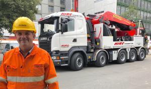 Knuckle-boom crane reaches almost 50m