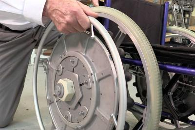 Close-up of Ezy-wheels. 30 years in the making
