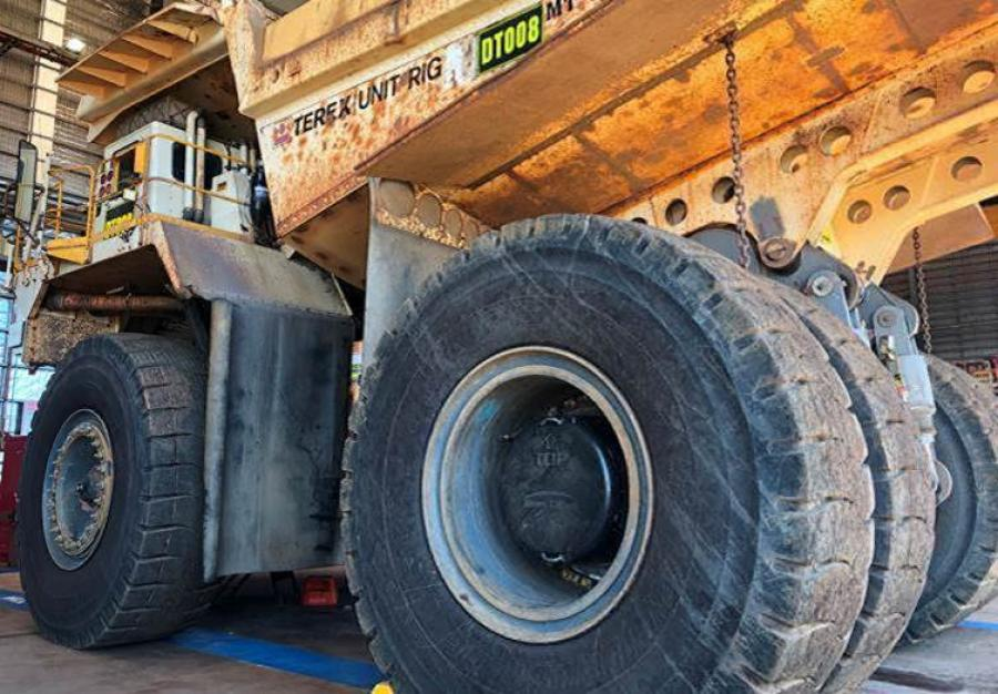 Rivers Carbon is already making wheel hub covers for giant mining trucks