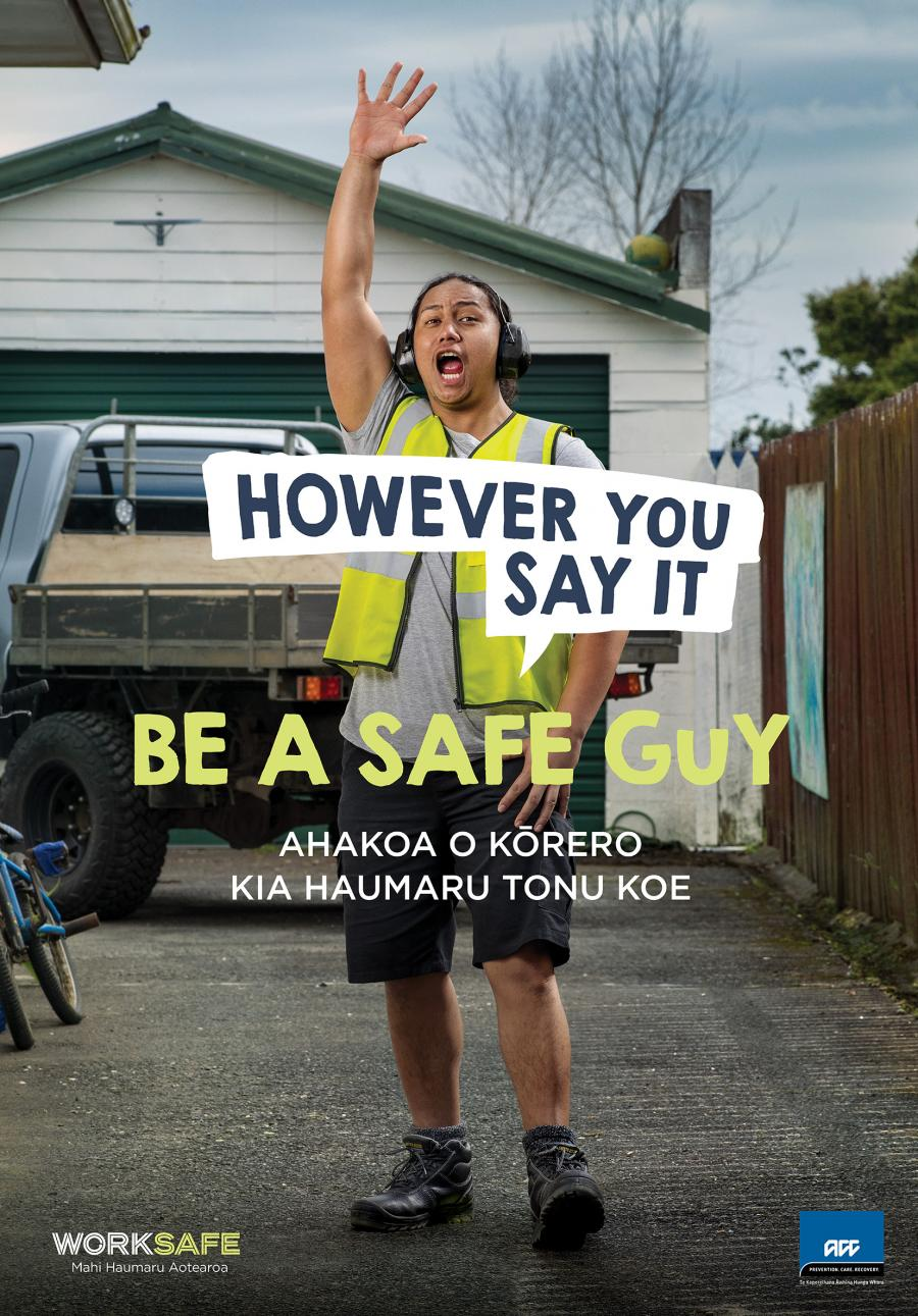 WorkSafe launches 'Be a Safe Guy' campaign