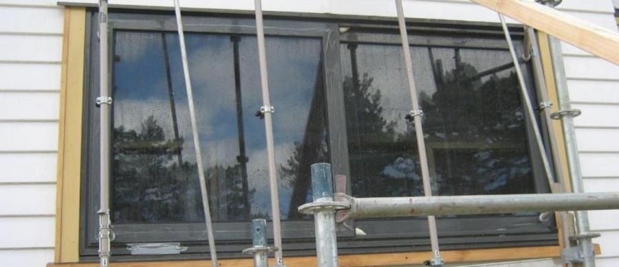 The $130,000 mistake - this rig, set up to test imported windows, proved they would leak under extreme pressure. Photo: Supplied by Auckland Council