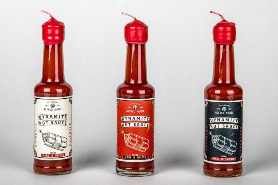 Jazmyne Powell, Alfred Nobel: Dynamite Hot Sauce.
