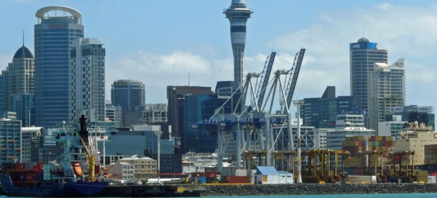 The latest plan for a waterfront stadium involves building a stadium partly sunken into reclaimed land at the Bledisloe Wharf. Photo: Jane Nearing