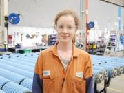 Pictured apprentice Brenna McRobb