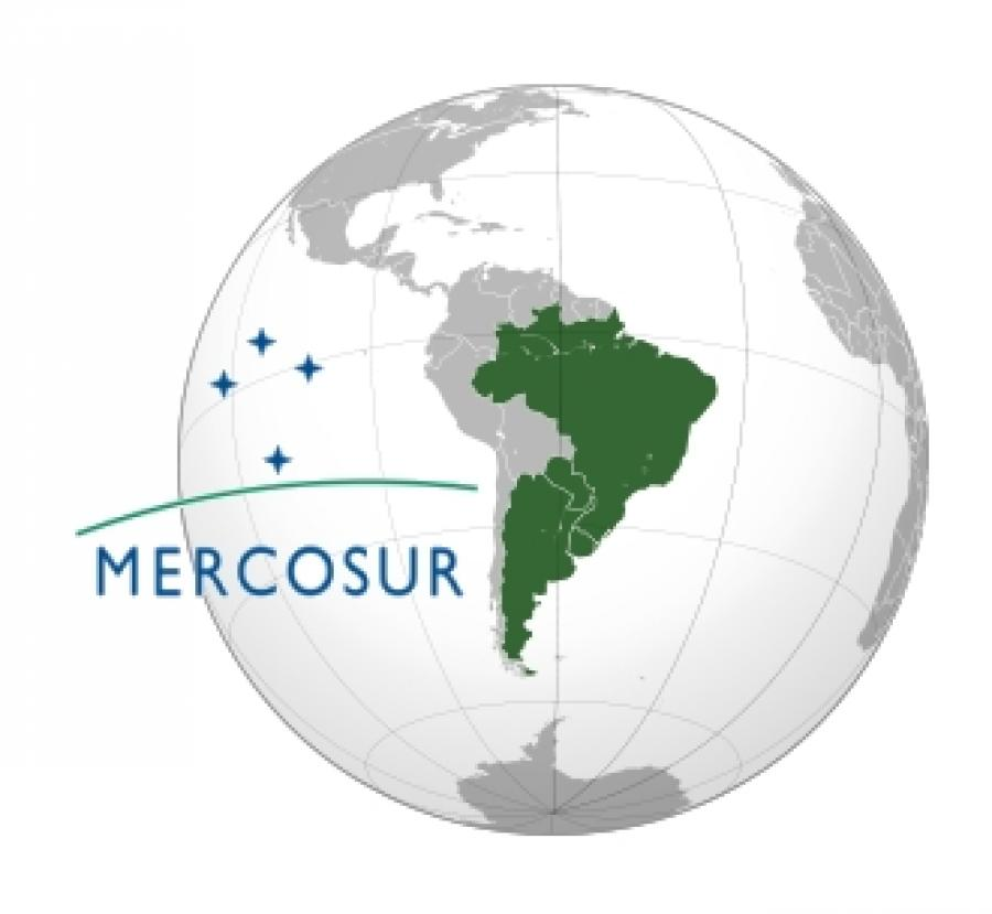 Mercosur trade bloc consisting of Argentina, Brazil, Paraquay and Uruguay