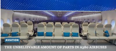 The unbelievable amount of parts in A380 Airbuses