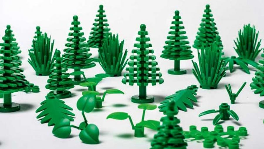 Lego says the new pieces made with sugarcane ethanol make up between one and two percent of the total plastic pieces it produces