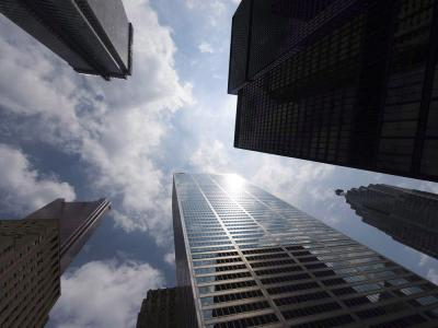 The downtown Toronto towers of the country's main banks.  Canadian Press file photo