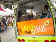 The AVANZA smoothie wagon at the Farmers Market in Japan