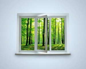Think of your windows as frames