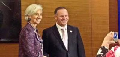 Tapie Affair Lagarde Escape Renews New Zealander John Key prospects at IMF