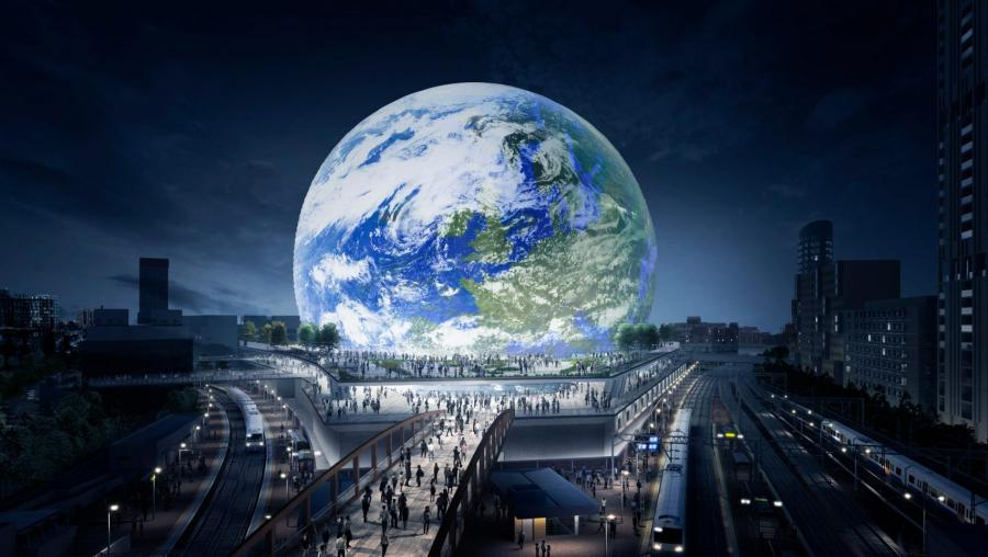 First visuals revealed of Populous' spherical London arena