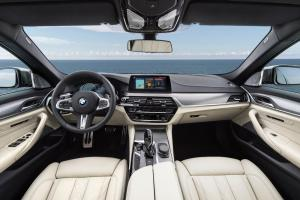 nside, the 5 Series has a well-designed cabin, with a bulkier dashboard design to accommodate the numerous technology options available in the sedan