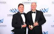 Brian Everton, left, with brother Lyndon receiving their award at the NZ Food Awards. Photo/Supplied