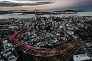 New Zealand Turned a Former Highway Offramp Into a Shocking Pink Bike Path