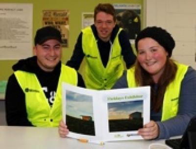 Wintec students in their Fieldays vests (l-r) Jesse Wood, Blair Voorend, Candice Gollan.