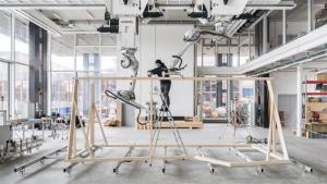 ETH Zurich robots use new digital construction technique to build timber structures