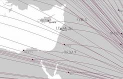 The online route map of Qatar Airways