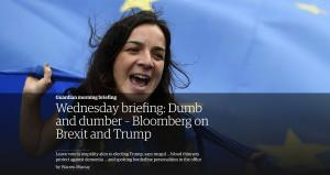 Guardian morning briefing - news at it's best