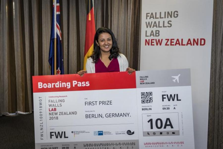 Clean air innovation wins researcher trip to Berlin for Falling Walls Lab final