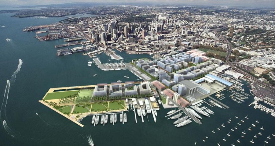 A new marine refit facility is proposed for Wynyard Quarter