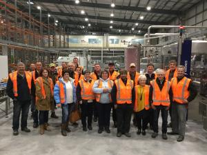 Fonterra Farmers see first-hand the operations at the new plant.