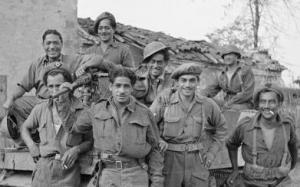 The 28th Māori Battalion waiting to move up into the front lines from Gambettola, Italy on 19 October 1944.
