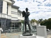 Goff's jam-packed itinerary included presenting the mayor and council of Zonnebeke in Belgium a miniature version of the bronze statue of All Black Dave Gallaher that stands outside Eden Park.