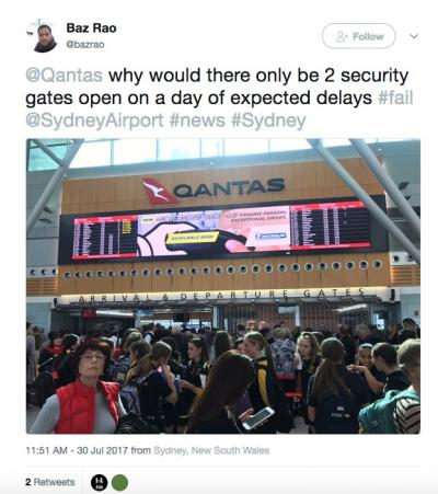Delays at  Aussie airports this week after Aussie 'bomb plot' raids