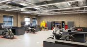 Industrial Design Studio, Engine, Electrics, Chassis Build, Spray-shop, Model-shop, Metal Work and Part Store are on one floor.