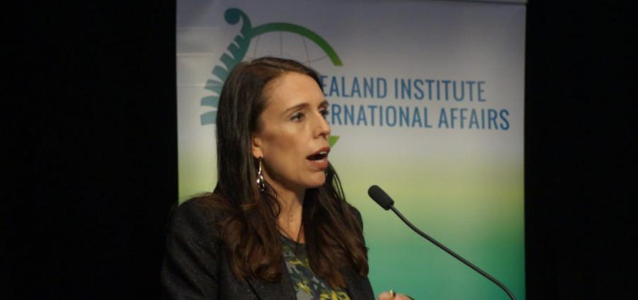 Prime Minister Jacinda Ardern focused on disarmament and climate change in her first foreign policy speech.