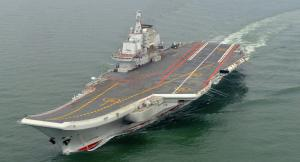 First voyage for China's giant home-built aircraft carrier