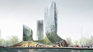 Four twisting glass towers proposed for Hangzhou,