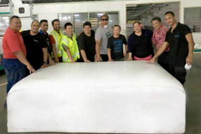 BUILDING BRIDGES: Samoa's first bedding and mattress manufacturing company have imported its first foam mattress-making machine into Samoa.