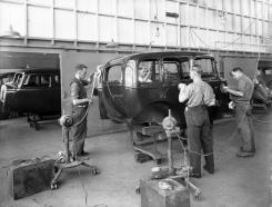 A Vauxhall being buffed  . . .
